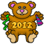 A 2012 New Years Teddy Bear! Cute :)