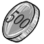 This coin is worth 500 cPoints
