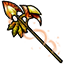 Give your opponent a hit with this autumn halberd!