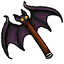 Who said bat wings aren't sharp? Strangely enough, it is not short for battleaxe.