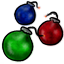 Pull the pins on these festive grenades and watch the 'fireworks' begin!
