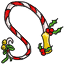 Bells, holly and a Christmas pattern, this whip will bring more that the Christmas spirit.