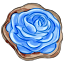 A blue rose may be impossible to find in nature, but at least you can have it in cookie form!