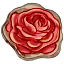 Red is the rose that in yonder garden grows, just like this cookie!