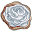 This cookie is iced with a vanilla frosting in the shape of a rose. Isn't it pretty?
