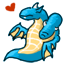 D'aww . . . a baby blue maneater! Be careful, they are known to breath fire!