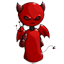 This little devil has a gleam in his eye. He's not really evil, just a little bad.