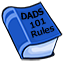 Book listing all the Dad Rules in life.
