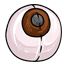 This is the most common color of eye and eyeball squishie!