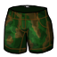 A pair of camo shorts.