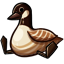 If you squeeze its tummy it will make a goose noise! ...AND IT WILL NEVER STOP.