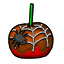 Mmm a caramel apple with a Halloween spider.