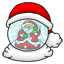 A santa snowglobe that you can look at and make snow when you want.