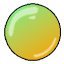 Orange and Lime flavored gumball.