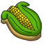 A cookie shaped like an ear of corn in time for some thanksgiving goodness.
