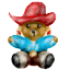 This little bear will help you wrangle yourself a cowboy!