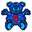 A teddy bear to celebrate Creature Worlds 4th Birthday!! (michele)