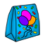 A gift bag full of goodies to celebrate the 3rd birthday of CW.