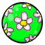 Daisies are all over this gumball.