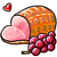 Made from the most succulent piggie and one of the most coveted of all foods in all of CW, they say pets, after eating this, will love their owners forever. Even comes with rich, plump grapes!