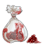 This bag is full of cherry flavored jelly beans covered...in...blood....