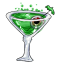 This martini, unfortunately, does NOT glow in the dark. How sad...