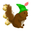 This little squirrel loves Christmas time. Don't you?