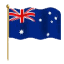 A special flag in honor of our members from Australia.