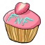 This cupcake is super special awesome! It has a strawberry instead of a cherry on top! Because it's so awesome!