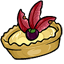 Fransnazzle is paired with a dark tart berry to complete the perfect fruit tart!