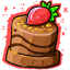 With a giant strawberry on it, no wonder it's a bit tilted! However, it's sure to be incredibly delicious. For a special CW member. <3