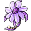Pretty amethyst surrounded by feathery petals!