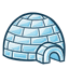 Be careful! If you drop this miniature igloo, it'll shatter the little glass inuits inside!