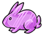 I don't know about you, but I would LOVE to see a purple bunny hoping around! Until then?  This gummy will do! ;D