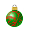 The red ribbon around this ornament was painted on so carefully you almost can't tell it's paint.