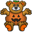 This little teddy bear is ready to go trick or treating