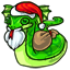 A cute Hissandra squishie dressed as Santa, those it bring any presents?