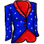 Show your patriotism in this red, white and blue suit coat.