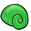 This delicate shell comes from a rare tropical snail.  It is highly valued for its vibrant colors and smooth texture.