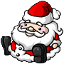 This jolly squishie says Ho Ho Ho when you squeeze it.