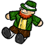 Oooh!  You caught a leprechaun!  Too bad its just a squishie.  :x