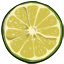Garnish a beverage with a refreshing slice of lime.