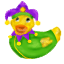 This ducky comes attired in his Mardi Gras finery and ready to party.