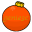 Orange genie3c Ornament