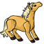 Palomino horses are always so pretty with their gold and white colors!
