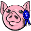 March first is National Pig Day! Let's celebrate with this pink piggy ball of gum!