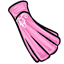 Pleats and soft pink give this elegant dress a somewhat younger look.