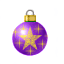 A lovely purple with a bright golden star to remind us of the one that led the wise men.