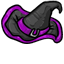 The dark purple and black in this witch hat go really well together. Its perfect for the most fashion oriented of the witches.