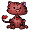 A squishie of a lovable kitty cat to be your Valentine..